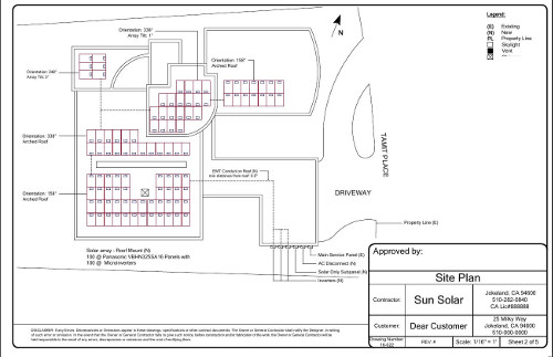 Superior Sample Solar Permit Plan   Site Plan